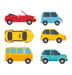 set of vehicles design vector image