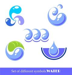 set symbols water vector image