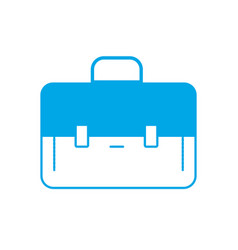 silhouette elegant briefcase to save business vector image