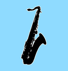 Silhouette of saxophone - sax musical instrument vector