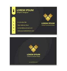 Simple elegant black business card vector