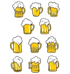 Tankards of beer vector