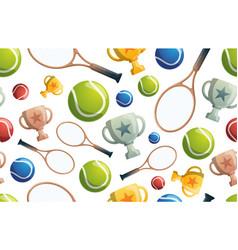 tennis seamless pattern seamless pattern vector image