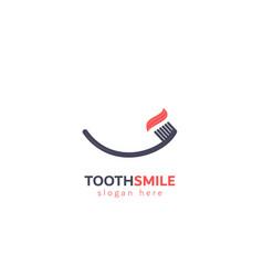 Tooth smile design logo vector