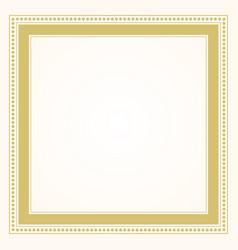 trendy stylish formal golden square frame border vector image