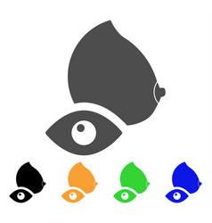 View female breast icon vector
