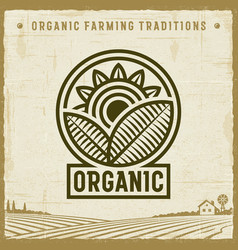 Vintage organic label vector