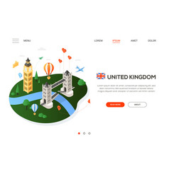 Visit the united kingdom - modern colorful vector