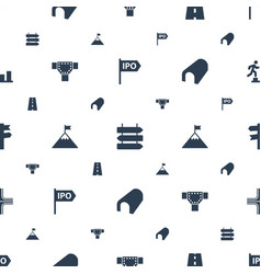 Way icons pattern seamless white background vector