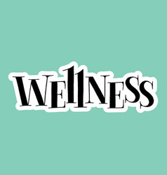 Wellness spa lettering vector