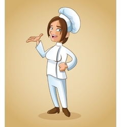 woman girl chef kitchen restaurant design vector image