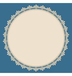 Beige round frame vector image