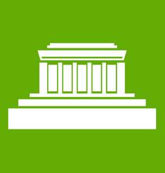building icon green vector image vector image
