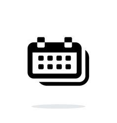 Calendars simple icon on white background vector image