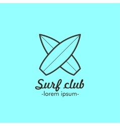 Logo for the surf club vector image vector image