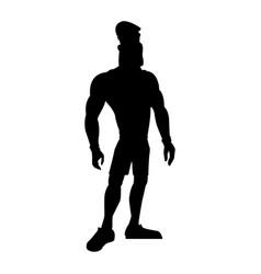 man athletic bodybuilding sport pictogram vector image