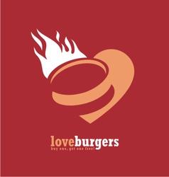 Minimalistic ad design for fast food restaurant vector image