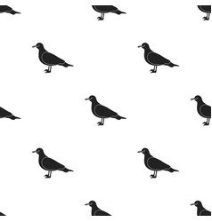 seagull icon in black style isolated on white vector image