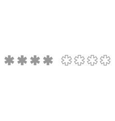 symbol enter password it is black icon vector image