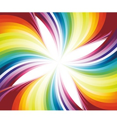 abstract flowing rainbow vector image vector image