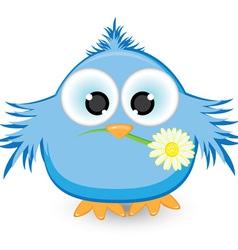 blue sparrow vector image