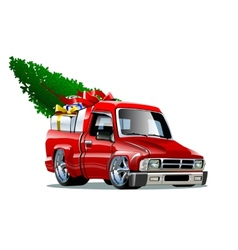 Cartoon Christmas Pickup vector image