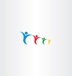family holding hand logo sign vector image