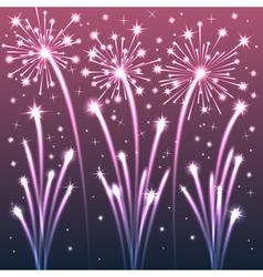 fireworks violet vector image vector image
