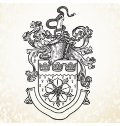 knight helmet and crest vector image
