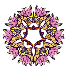 mandala colorful floral ornament vector image vector image