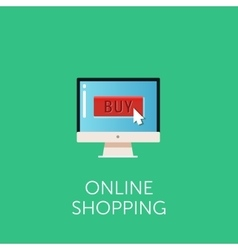 online shopping icon Concept of online vector image