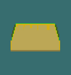 pixel icon in flat style tacos vector image