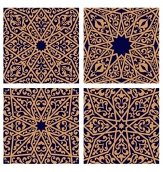 Seamless patterns of arabic ornament vector image vector image