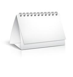 Blank spiral desktop calendar vector image vector image