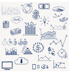 Business finance management infographics social vector image vector image
