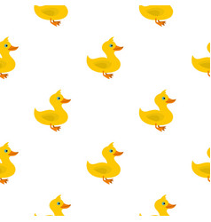 Duck pattern flat vector