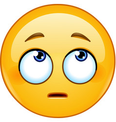 face with rolling eyes emoticon vector image