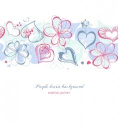 purple hearts vector image vector image