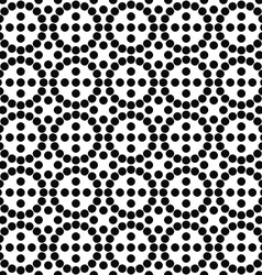 Repeating black and white circle pattern vector image vector image