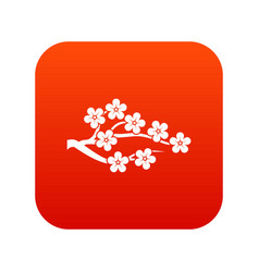 sakura icon digital red vector image