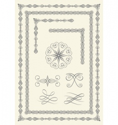 borders and emblems vector image vector image