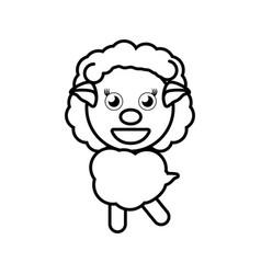 cartoon sheep animal outline vector image
