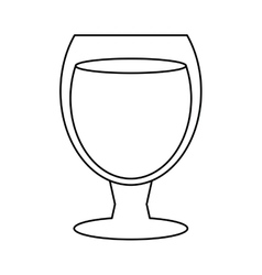 glass cocktail cup design style outline vector image