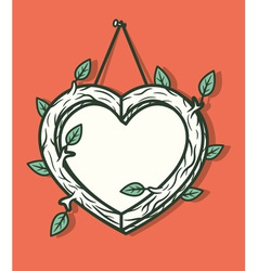 Heart wooden frame vector image
