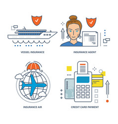insurance method of payment by credit card vector image vector image