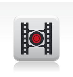 video recording icon vector image vector image
