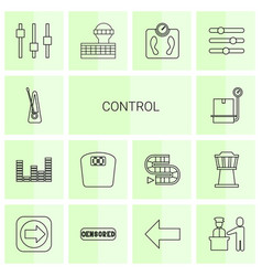 14 control icons vector