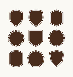 A set shields for logo vector