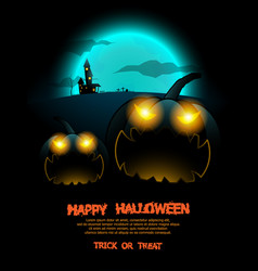abstract halloween poster background vector image