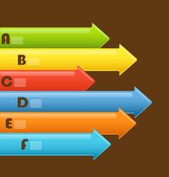 Abstract information arrows vector